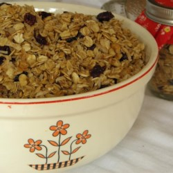 Mostly Oats Granola Recipe - Make your own granola that is mostly oats with hints of coconut, peanuts, and seeds for a hearty breakfast cereal.