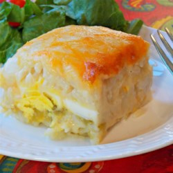 Brunch Casserole Recipe - This breakfast casserole is a hearty blend of eggs, rice and cheese.