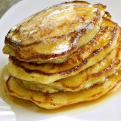 Simple Cottage Cheese Pancakes Recipe - Cottage cheese is the secret ingredient in these thin and delicate pancakes. Sprinkle with blueberries for extra color and flavor.