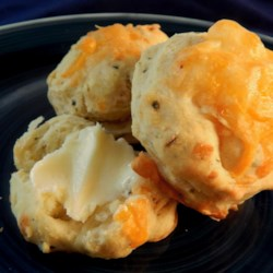Canadian Tea Biscuits Recipe - A delicious Cheddar cheese and chive savory tea biscuit is perfect for cool Canadian afternoons.