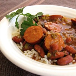 Sonya's Red Beans and Rice Recipe - Hearty red beans with just the right amount of seasoning and sausage are paired with rice for a warm and comforting duo that will stick to your ribs.