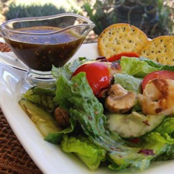 Easy Sesame Dressing Recipe - This quick and easy sesame dressing only requires 6 ingredients and goes quite nicely on Asian-inspired chicken salads.