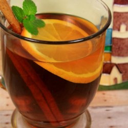 Hot Spiced Cider with Orange