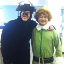 Bull and Buddy the Elf on Halloween at AR!