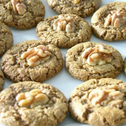 The Rebbetzin Chef's Persian Walnut Cookies Recipe - These delicately-spiced, rose-scented cookies are the perfect treat for Passover since they contain no flour. They are nutty and rich, slightly chewy with a crunchy exterior. Pistachios or almonds can be substituted for the walnuts.