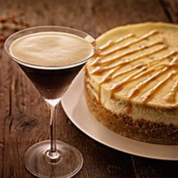 Kahlua(R) Pumpkin Cheesecake Recipe - In this rich, marbled cheesecake, Kahlua imparts warm, coffee notes to a classic autumn dessert.