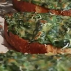 Chef John's Simple Spinach Toasts Recipe - Try this easy and quick recipe for creamed spinach on toast when you have leftover spinach and want a nice light lunch.