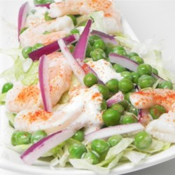 Shrimp and Pea Salad Recipe - This recipe makes for a nice cool shrimp salad on a hot summer day.