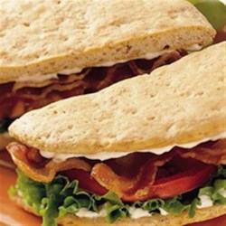 Grands!(R) BLT Sandwiches Recipe - Serve the BLT trio on warm, golden wheat biscuits for a delicious change of pace from ordinary toast.