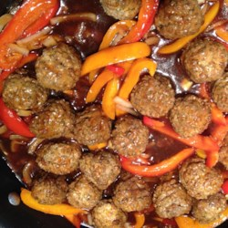 Oh So Easy Sweet and Sour Meatballs Recipe - This is a quick and easy weeknight dish completed quickly through the use of frozen mixed vegetables and prepared fully-cooked meatballs.