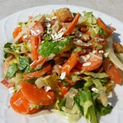 Carrot Pepperoni Caesar Salad Recipe - This recipe makes a juicy, crunch, and tasty salad with a kick!