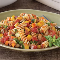 Contadina(R) Insalata Minestrone Recipe - The flavors and ingredients from the popular soup were cleverly translated to make this delicious pasta salad--voted as a finalist in the recent Contadina(R) recipe contest.