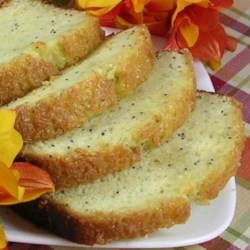 Orange-Almond Poppy Seed Bread Recipe - Butter-flavored extract gives this fragrant poppy seed loaf a comforting flavor.