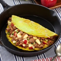 Family Style Apple and Sausage Omelette