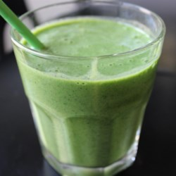 Kale and Banana Smoothie Recipe - Nutrient-rich kale is hidden in this delicious banana smoothie. . . perfect for those of us who have a hard time getting our daily dose of veggies!