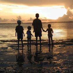 Kids at Sunset