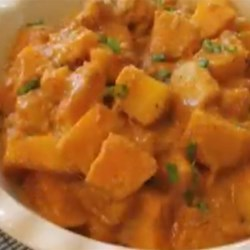 Red Curry Butternut Squash  Recipe and Video - Give plain old butternut squash a fresh Asian twist with red curry, coconut milk, and other Thai-inspired seasonings to make a side dish that's sweet, spicy, and mysteriously tasty.