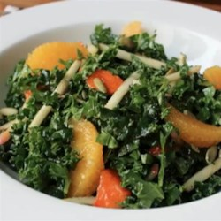 Chef John's Raw Kale Salad Recipe - If you slice kale thin and toss it with other tasty treats like apple, persimmon, orange, and nuts, the kale mellows out and serves as a perfect foil for other vegetation.