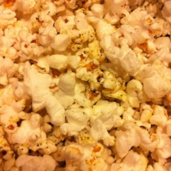 Funky Popcorn Recipe - Air-popped popcorn is tossed with butter, nutritional yeast, and za'atar for a snack with middle-eastern flavors.