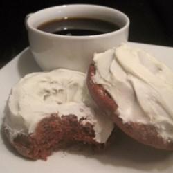 Red Velvet Fluffy Cake Doughnuts