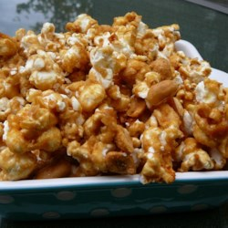 My Amish Friend's Caramel Corn Recipe - This easy caramel corn can be tossed with peanuts or mixed nuts, if desired.