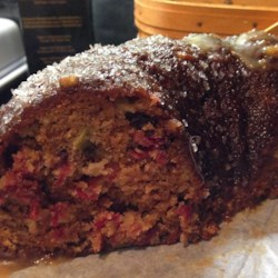 Cranberry Apple Cake Recipe - Leftover cranberries from Thanksgiving are a tangy and colorful addition to apple pecan cake for the holiday season.
