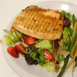 Grilled Arctic Char on Bed of Greens