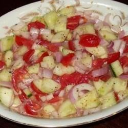 Cucumber, Tomato & Red Onion Salad-Southern Style
