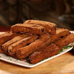 RITZ Country Fried Ribs with Zesty Buttermilk Ranch Dressing, created by Dinosaur Bar-B-Que