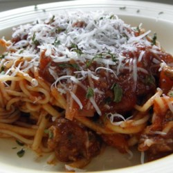 Pasta Sauce a la Pauly Recipe - Enjoy this meaty pasta sauce over your favorite noodles.