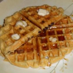 Healthy White-whole wheat waffles