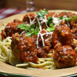 Chef John's Ricotta Meatballs  Recipe - Using plenty of ricotta cheese gives these Italian-inspired meatballs in sauce a tender texture. Serve over spaghetti.