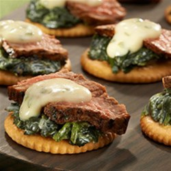 RITZ Steakhouse Bites Recipe - New York City is known for having some of the most famous steakhouses in the world, and now you can experience classic New York Steakhouse taste in one bite with RITZ Steakhouse Bites.