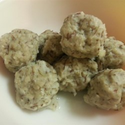 Grated Potato Dumplings Recipe - This is an old family recipe that I have never found in any book. They're great served with meat gravy or cooked sliced onions in melted butter.