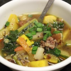Chef John's Sausage, Zucchini, and Potato Stew  Recipe - Spicy smoky sausage adds flavor and zest to a simple stew of zucchini and potatoes.
