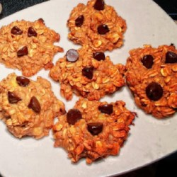 No Sugar Oatmeal Cookies Recipe - Applesauce, bananas, and raisins provide the sweetness in this oatmeal cookie recipe.