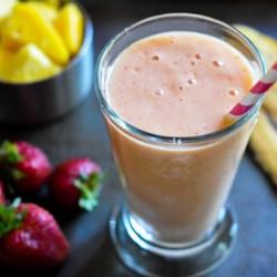Strawberry Smoothie with OJ Recipe - Combine strawberries, Greek-style yogurt, and orange juice to make this filling strawberry breakfast smoothie.