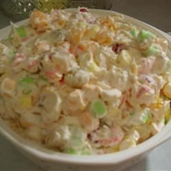 Ambrosia Salad II Recipe - This is my mom's favorite salad. My grandmother always made it during the holidays in Alabama.
