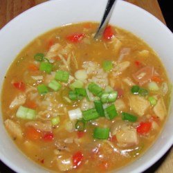 Cajun Chicken and Sausage Gumbo Recipe - A classic roux is the thickening agent for this traditional Cajun-style gumbo made rich and hearty with chicken, sausage, onions, bell peppers, celery, garlic, and lively seasonings.