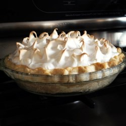 Meringue II Recipe - A perfect recipe for perfect meringue. A hot cornstarch syrup is carefully whisked into beaten egg whites until stiff peaks are formed. The meringue can be used to top a pie or swirled into individual meringue shells.