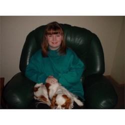 Me (Sarah) with Xander the dog