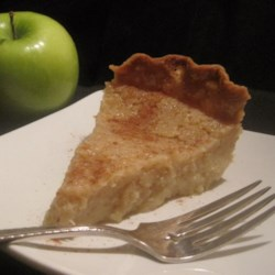 Applesauce Custard Pie Recipe - Simple and delicious, this recipe makes this pie just a bit different from traditional apple pie. Applesauce, eggs, sugar, butter and vanilla are stirred up and poured into an unbaked pie shell. A bit of nutmeg is sprinkled on the top and it 's baked until the custard is set.