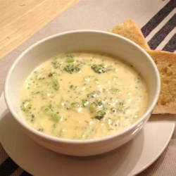 Copycat Panera(R) Broccoli Cheddar Soup Recipe and Video - Enjoy your favorite restaurant's broccoli Cheddar soup any time with this delicious recipe!