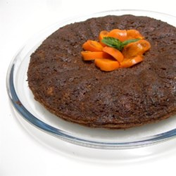 Persimmon Pudding Cake Recipe - A dense and filling cake, wonderful in the fall and winter.