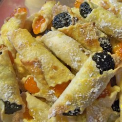 Hungarian Kifli II Recipe -  Make these on a dry day. The dough is sticky.  They are delicious!
