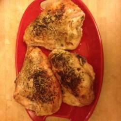 Oven Baked Crispy Garlic Bone-in Skin-on Split Chicken