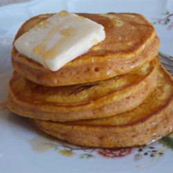 Simply Pumpkin Pancakes Recipe - Quick, easy, and delicious, these light and flavorful pumpkin pancakes are best when served warm with butter and syrup.