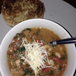 My Canadian Friend's Bean Soup Recipe - I have yet to meet a child or adult who doesn't lick their bowl after eating this. A delicious tomato based turkey sausage and bean soup. Very simple and can be ready to eat in minutes or cook for hours. Make a double or triple batch and freeze your leftovers. Serve with a fresh salad and buns for a perfect Sunday lunch or savory dinner.