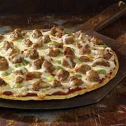 Easy Sausage Pizza by Johnsonville(R) Recipe - Take all the delicious flavors of this pizza standard and remove all the hassle and fuss. When you're craving pizza and just don't have the time to make homemade, Johnsonville gives you a great alternative that's bursting with big flavor.