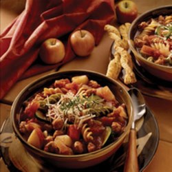 "Italian Pasta Stew Recipe - Have some vino, and say, ""Grazie"" as you sample this sumptuous dish!"